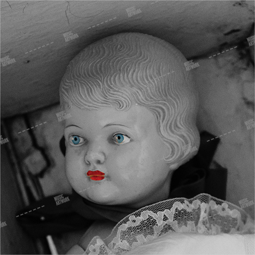 Album cover showing the head of a doll