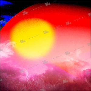 album artwork with sun