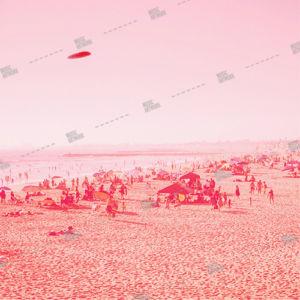 album cover design with ufo