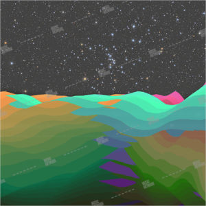 landscape in space