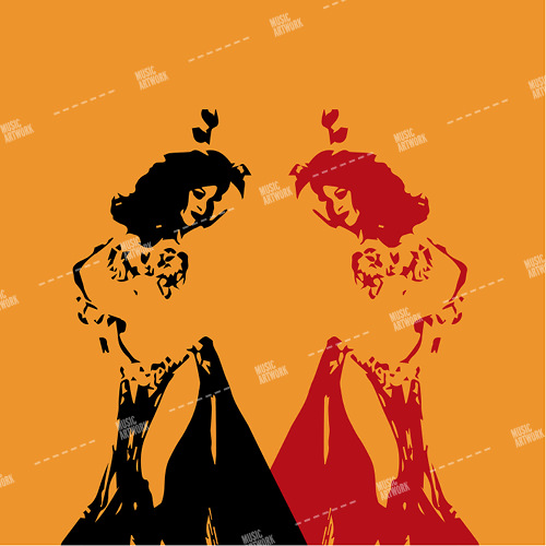 album artwork with two oriental dancers