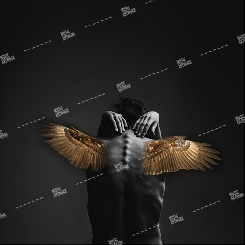 album cover art with angel