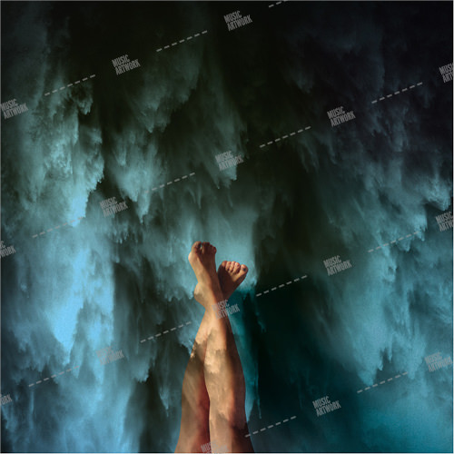 Music album cover showing two legs and water