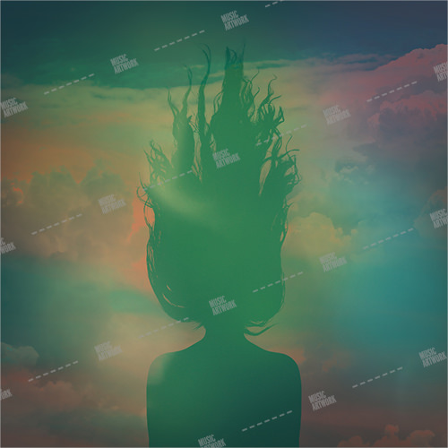 Music album cover showing the shadow of a girl.
