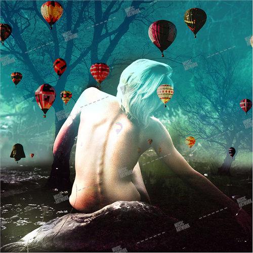 girl, baloons, naked, fantasy