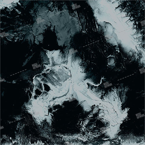 Album cover showing abstract black, grey colours