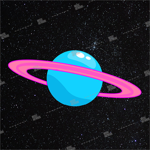 Album cover showing a planet