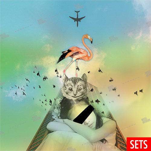 Album cover showing a fantasy image with a girl and a cat