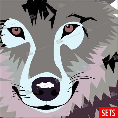 Album cover showing the face o a wolf