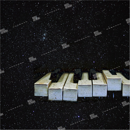 Album cover showing piano keys and stars