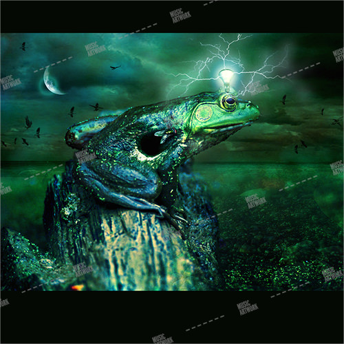Album cover artwork showing a fantasy frog