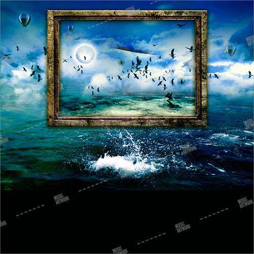 Album cover artwork showing a fantasy landscape