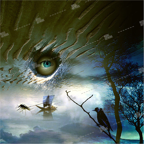 fantasy album artwork with an eye