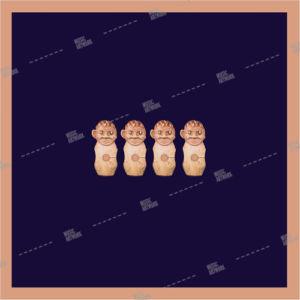 blue album art with four baby dolls
