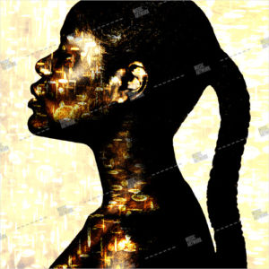artwork with black girl