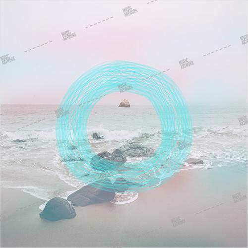 album artwork with beach