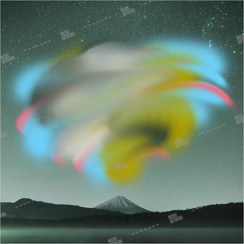 music album art with landscape
