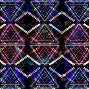 dark album artwork with coloured lights