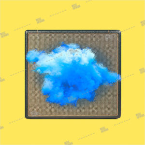 Album art with amplifier and cloud