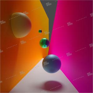 3d graphic album artwork with spheres