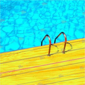 Album art with swimming pool