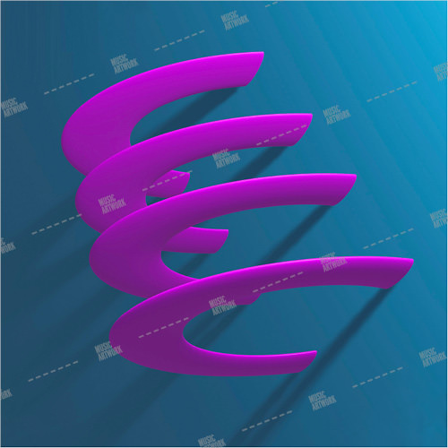 Album art 3D with pink rings