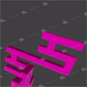3D Album art with pink shapes