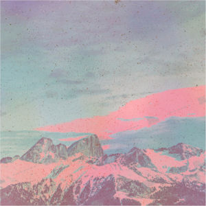 Album art with mountains