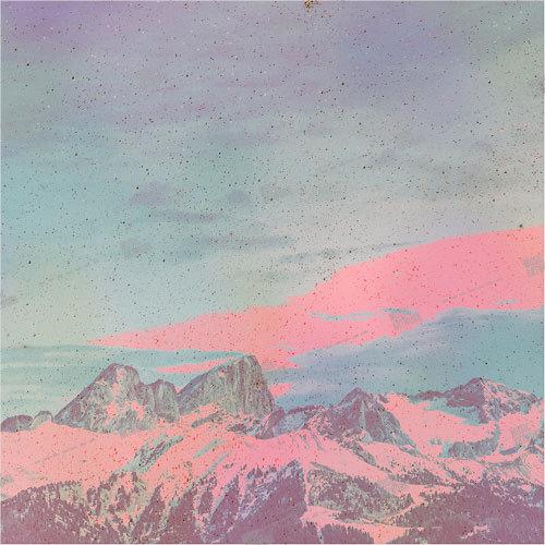 Album art with mountains