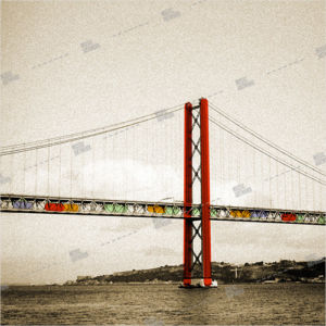 album art with bridge