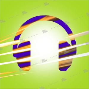 Album art with earphones