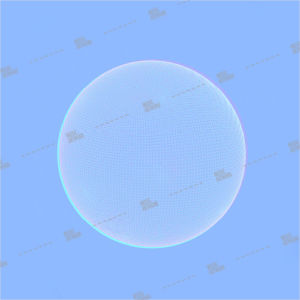Album art with sphere shape on blue background