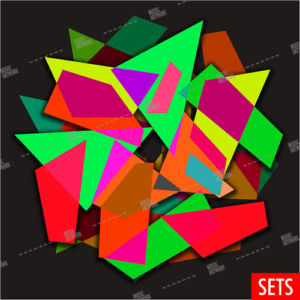 album artwork with shapes