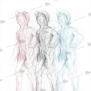 Album artwork with men