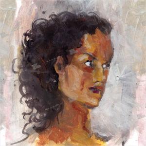 Album artwork with portrait of a black woman