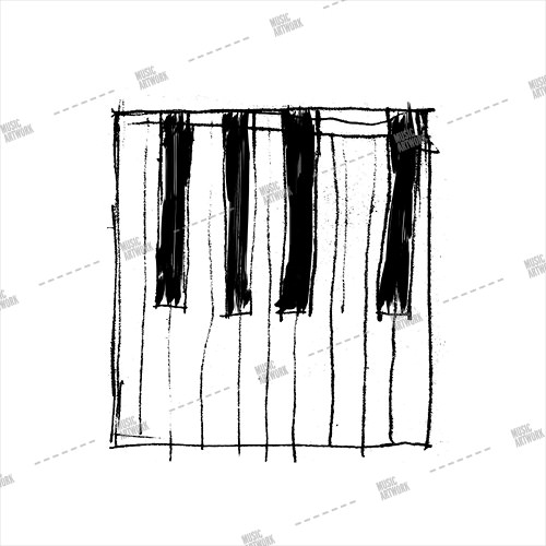 Album artwork design with painted piano