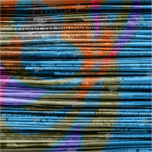 album art with papers, newspapers
