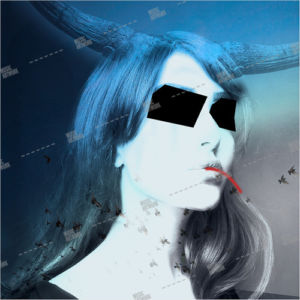 Album artwork design with blind girl