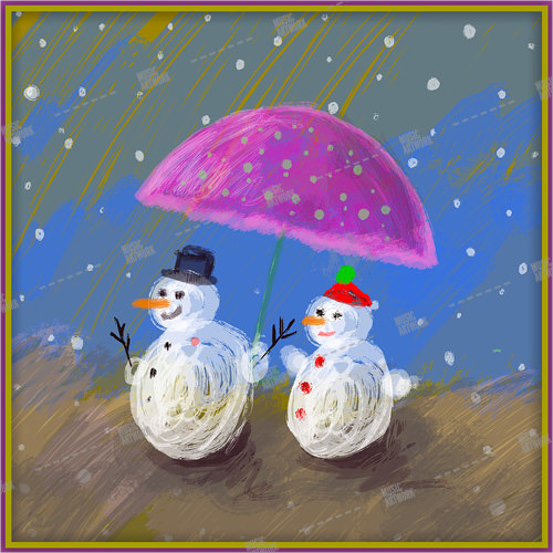 album art with snowmen
