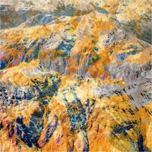 album artwork with mountains