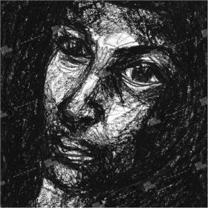 album art with portrait