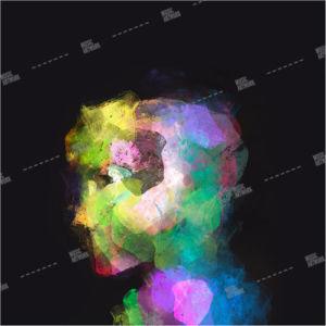 Album artwork design with coloured portrait