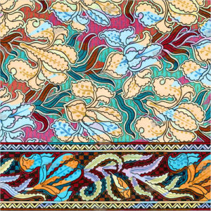 album art with floral design