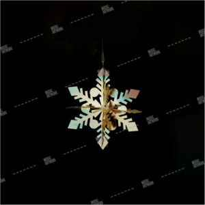 christmas ornament in black background