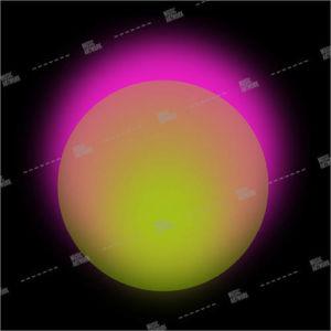 album art with gradient circles