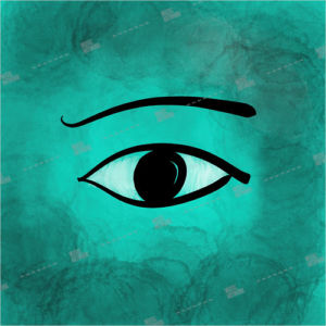 Low budged, cheap album art for music releases with egyptian eye