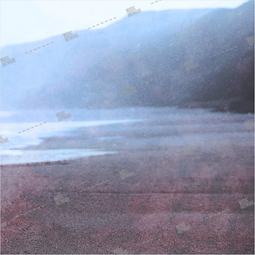 Album artwork design with seashore