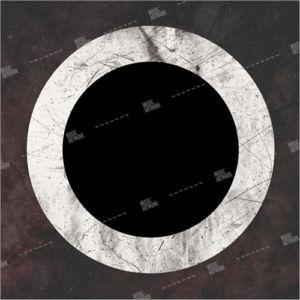 dark album art with black hole
