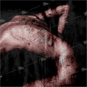 Album artwork design with naked body