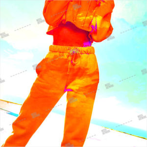artwork with girl in orange clothes